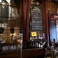 Offshore Ale Co., Oak Bluffs. Has their own microbrew. Also had West Tisbury oysters here for the first time (yum)