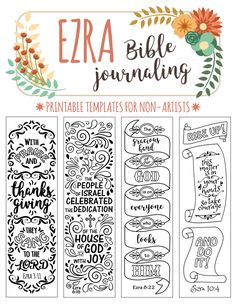 EZRA - 4 Bible journaling printable templates                                                                                                                                                                                 More