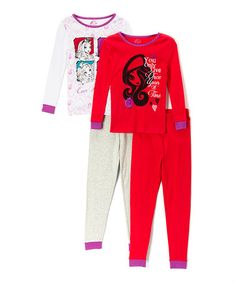 Pink & Red 'You Only Live Once' Pajama Set by Monster High #zulily #zulilyfinds $17.99 for the set!!!