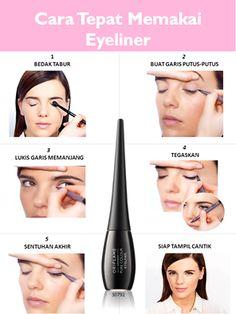 Ga bisa pake Eyeliner? cobain dech tips pake eyeliner ini,,,