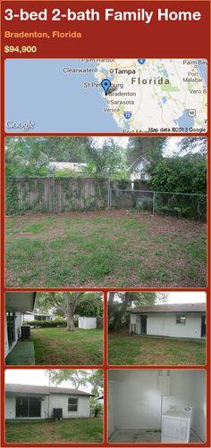 3-bed 2-bath Family Home in Bradenton, Florida ►$94,900 #PropertyForSale #RealEstate #Florida http://florida-magic.com/properties/13767-family-home-for-sale-in-bradenton-florida-with-3-bedroom-2-bathroom