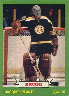 Jacques Plante playing for Boston Hockey Goalie, Hockey Games, Hockey Players, Ice Hockey, Stars Hockey, Boston Bruins Goalies, Nhl Wallpaper, Bae, Goalie Mask