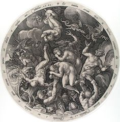 Damned Descend into Hell, Hendrik Goltzius, 1577.