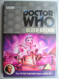 """""""Black Orchid"""" is an adventure of the nineteenth season of """"Doctor Who"""" classic series which aired in 1982 featuring the Fifth Doctor, Adric, Tegan and Nyssa. It follows """"The Visitation"""" and it's a two parts adventure written by Terence Dudley and directed by Ron Jones. Image from the British edition of the DVD. Click to read a review of this adventure!"""