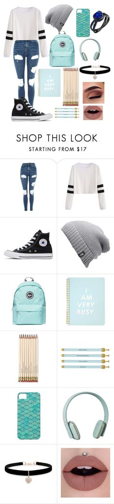 """❤❤"" by aesthetic-fashion on Polyvore featuring Topshop, Converse, The North Face, Miss Selfridge, Kate Spade, Santa Barbara Design Studio, Zimmermann and Betsey Johnson"