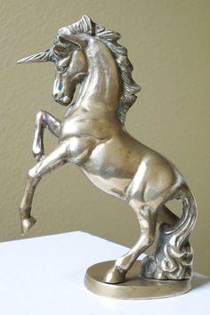 Vintage brass unicorn figurine by Timebanditvintage on Etsy, $25.00
