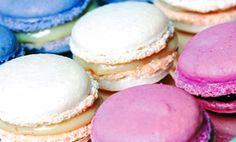 Macarrones dulces, coloridos bocaditos