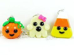 Polymer Clay Kawaii Charms   Kawaii Friendship Halloween Charm Necklaces Polymer Clay - Necklaces ...