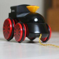 brio pull-along toy train.