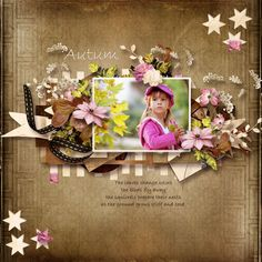 Page by Atusia using Autumn Memories by Scrap Angie and It's my party Vol 4 by Miss Mel