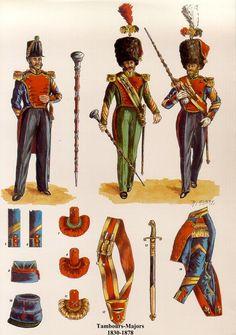 Tambours-majors et Sapeurs d'Infanterie Les planches uniformologiques de Robert Aubry