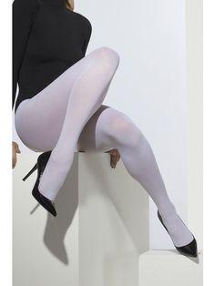 Ladies White Opaque Tights - 01-42739 #ebay #Fashion