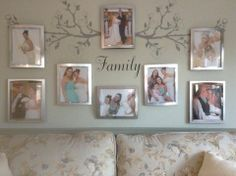 Create your own family branches wall! Start with yourselves and watch it grow!