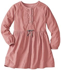 Pincord Peasant Dress | Girls Dresses