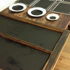 Chalkboard projects using L'essentiel Botanics Liquid Carbon black paint.