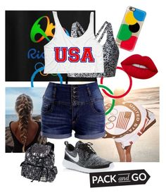 """""""Trip to Rio"""" by styleim ❤ liked on Polyvore featuring Ralph Lauren, Casetify, Lime Crime, NIKE, Olympics and rio"""
