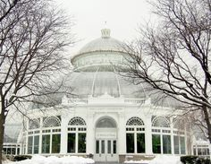 The Enid A. Haupt Conservatory. The Bronx, New York; a major part of the New York Botanical Garden (NYBG). Inspiration for the park & conservatory stemmed from Nathaniel Lord Britton + his wife Elizabeth. After visiting the Royal Botanic Garden at Kew on their honeymoon, they thought a similar park and conservatory should be built in New York City. Designed by Lord and Burnham Co.