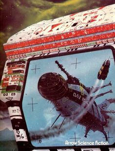 """Chris Foss, """"The Quincunx of Time,"""" 1976 Science Fiction Kunst, Science Fiction Magazines, Retro Kunst, Retro Art, Fantasy Kunst, Sci Fi Fantasy, Sci Fi Kunst, Arrow, Famous Artists Paintings"""