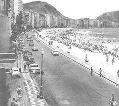 Praia de Copacabana anos 50
