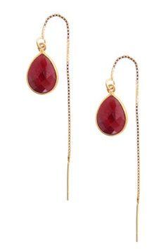 Ruby Pass-Through Dangle Earrings