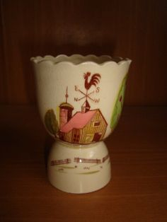 Vintage Egg Cup with Rooster Weathervane by windsweptcollectable, $14.00