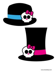 Hats from Monster High Inspired Girly Monsters Printable Photo Booth Prop Set