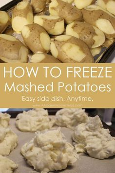 How to freeze mashed potatoes for later! I love this idea! Make a bunch at once and have them ready to go.... you could also freeze left over mashed potatoes this way too!