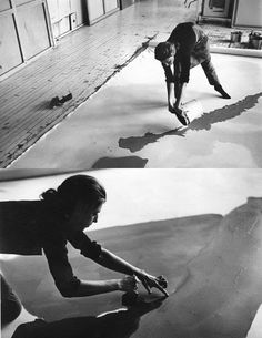 Helen Frankenthaler at work, ph. Ernst Haas, 1969