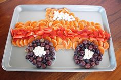 Headed to Monster Jam or having a monster truck themed party, check out this easy monster truck fruit tray. It's healthy, fun and yummy.