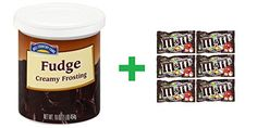 Hill Country Fare Creamy Fudge Frosting 16 OZ Pack of 16  6 Pack of MM Milk Chocolate 169oz ** Check out this great product.