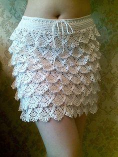 Flounce Skirt free crochet graph pattern