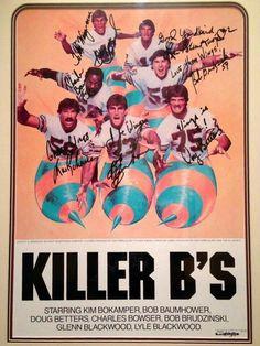 The original Killer B's Nfl Football Helmets, Nfl Football Players, Football Art, Football Memes, Vintage Football, 1972 Miami Dolphins, Dolphins Cheerleaders, Nfl History, Tough Guy