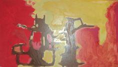 """""""Pintura"""" Óleo sobre cartulina 34 x 54 cms. 2005"""