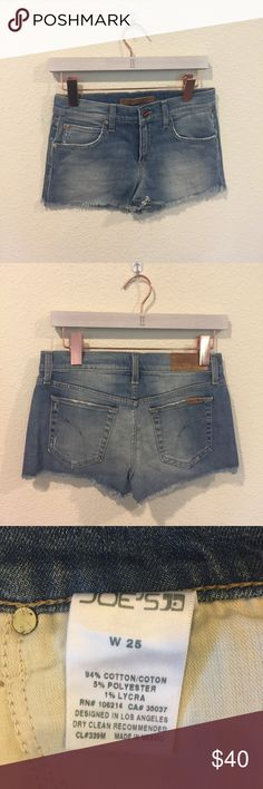 Joe's Jeans cut off shorts Cut off jean shorts! From the So Sage blog. No trades. Joe's Jeans Shorts Jean Shorts