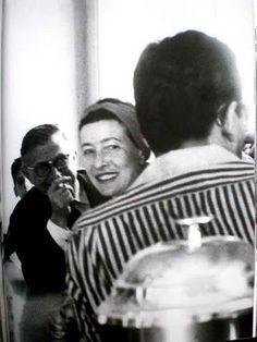 Simone de Beauvoir and Jean-Paul Sartre. Jean Paul Sartre, Cuba, Le Castor, Feminist Theory, Playwright, Interesting Faces, Vintage Photography, Poet, Simone De Beauvoir