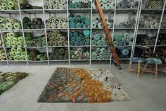 welcome : Alexandra Kehayoglou Paper Weaving, Textiles, Rugs On Carpet, Carpets, Bedroom Themes, Rug Hooking, Fabric Art, Textile Art, Fiber Art