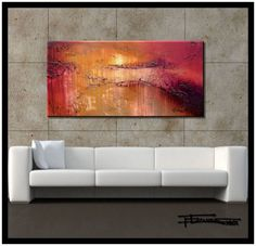 """LARGE MODERN CANVAS WALL ART-""""DREAM IN COLOR"""" Limited Edition, Hand Embellished, Giclee on canvas, Textured Abstract Paint..."""