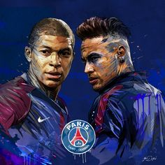 Neymar and Messi Football Player Drawing, Soccer Drawing, Football Players, Soccer Art, Football Is Life, Football And Basketball, Football Fever, Juventus Fc, Mbappe Psg