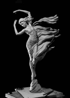 Wind Dance by *Karl Jensen at Quent Cordair Fine Art - The Finest in Romantic Realism Statue Ange, Ceramic Sculpture Figurative, Poses References, Contemporary Abstract Art, Hanging Art, Amazing Art, Sculpting, Art Gallery, Fine Art