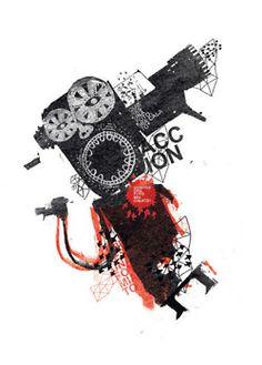 """ilustracion para la revista galeria """"como hacer una pelicula peruana"""""""