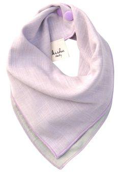 Kishu Baby Girl Bib | Reversible Solid Bandana Bib for Girls | One Size Multicolor (lavender/sage)