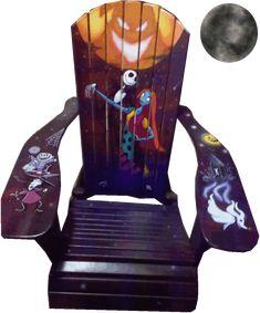 Nightmare Before Christmas Chair omfg I need this! Christmas Chair, Christmas Love, Christmas Bedroom, Halloween Christmas, Christmas Ideas, Halloween Crafts, Halloween Decorations, Christmas Decorations, Jack The Pumpkin King