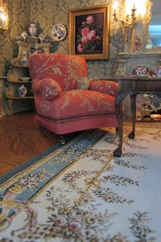 A Beautiful World: Drawing Room. 1/12 scale chair but looks real.