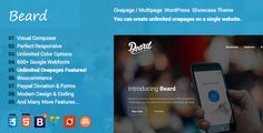 Beard Multipurpose Onepage  Multipage Responsive WordPress Theme by Ninetheme Beard is a minimal, responsive, business landing page / one page HTML5 WordPress theme based on Bootstrap 3. This multipurpose, cu