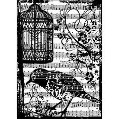 @Overstock - Make your own invitations or add an artistic touch to your craft projects with this intricate Tim Holtz stamp. Mount the handy rubber stamp on an acrylic block, and you are ready to create unique and beautiful pieces at home.     http://www.overstock.com/Crafts-Sewing/Tim-Holtz-Birdsong-Cling-Rubber-Stamp/5640841/product.html?CID=214117 $5.98