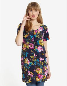 Joules CAMELLIA Womens Woven Tunic, Navflor. Just the thing to be paired with tights, leggings or even jeans � a true all year round favourite.