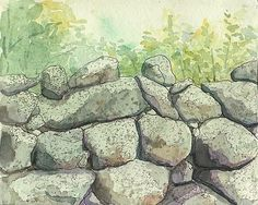 Old Stone Wall from Up-Island by Jackie Sullivan