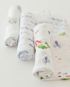 """- Description - Product Details - Material and Care Snuggle time available daily. A versatile design that's great for swaddling, nursing, cuddling, and more. • Set of three 47"""" x 47"""" swaddling blanket"""