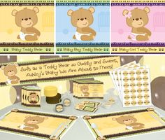 Teddy Bear Baby Shower Decorations - #BabyShowerIdeas #BabyShowerDecorations #BigDot #HappyDot