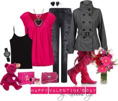 """Pink Valentine"" by fabulousego on Polyvore"